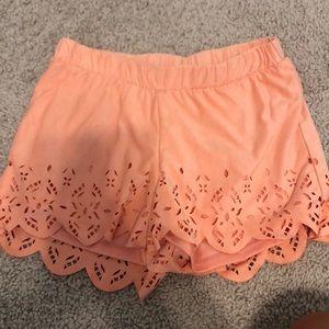 Velvet coral shorts